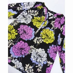 Dana Buchman Floral Tunic Blouse Women's Small